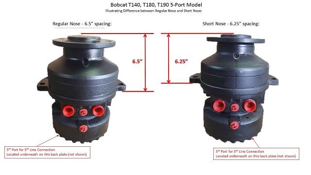 Bobcat t140 t180 t190 final drive track motor 5 port for Bobcat drive motor parts